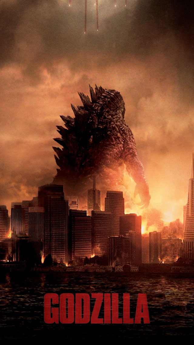Godzilla 2014   Best iPhone 5s wallpapers 640x1136