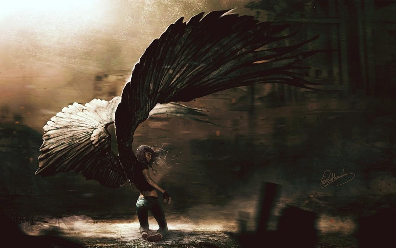 Great Fantasy Fallen Angel Background Wallpapers Angel 1280x800