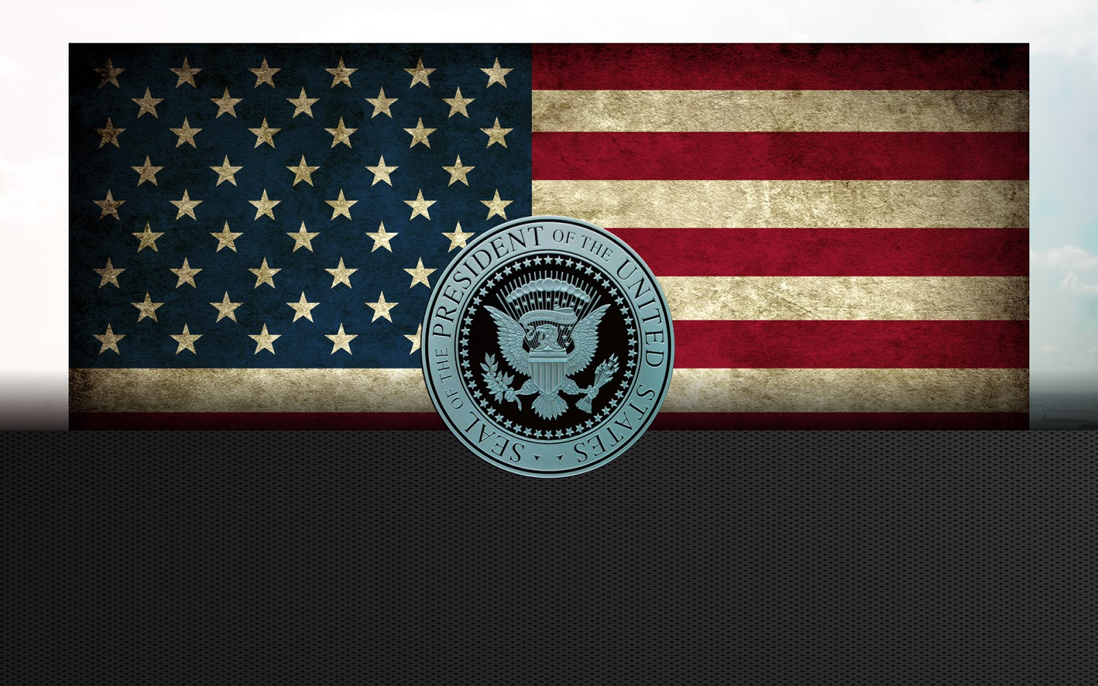 American Flag HD Wallpaper With Seal of President Wallpapers Fever 1600x1000