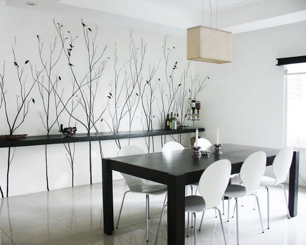 decorating dining room walls 2015   Grasscloth Wallpaper 600x481