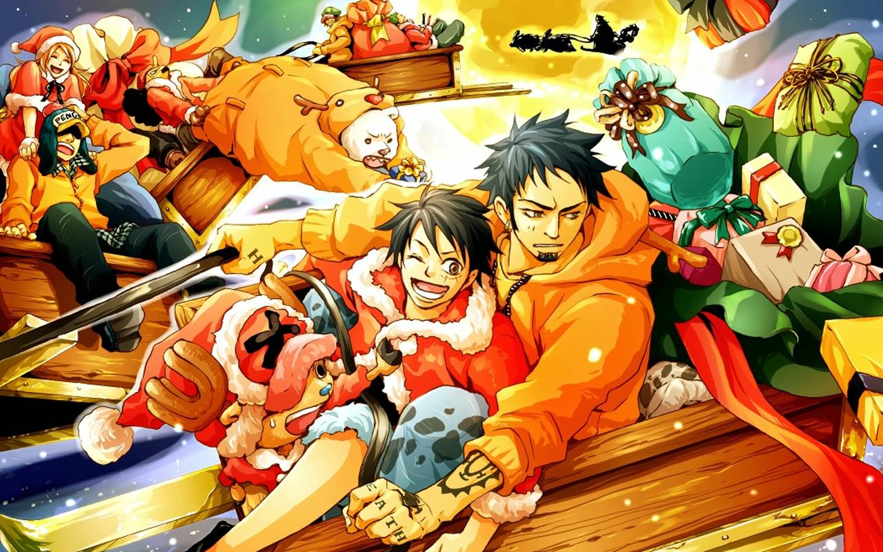 One Piece Anime Christmas 6d Wallpaper HD 1280x800