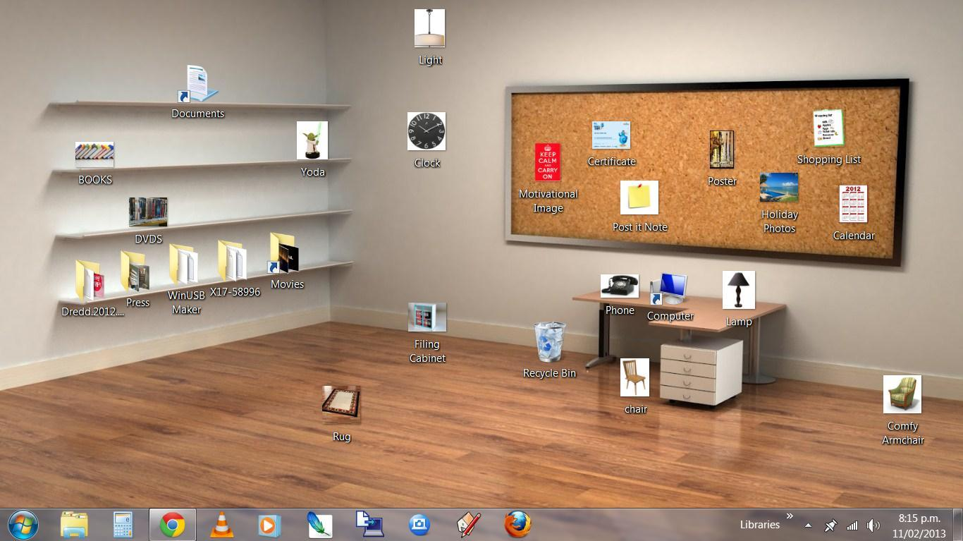 Office desktop background wallpapersafari for Wallpaper 3d for room