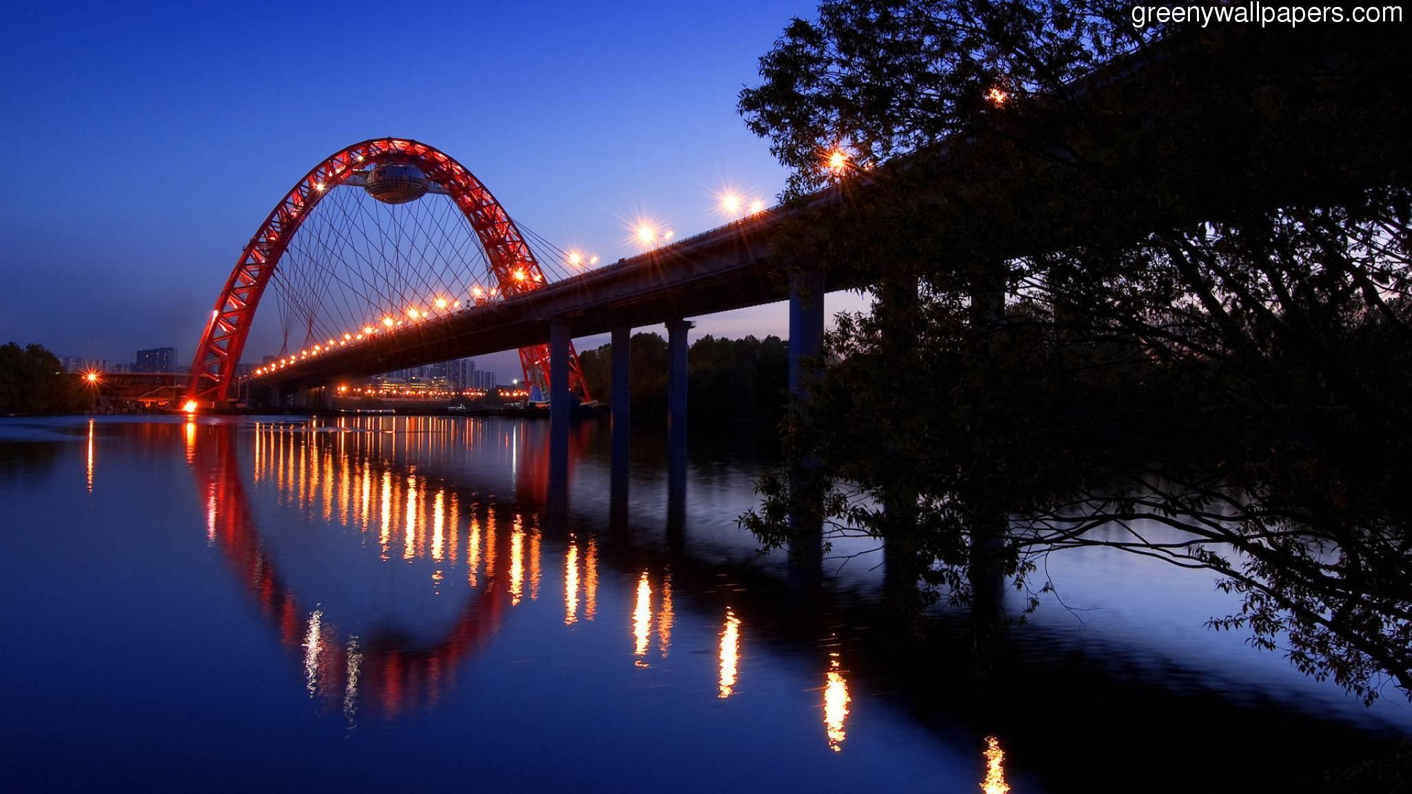 Moscow Bridge Hd Widescreen 20481152 2048x1152