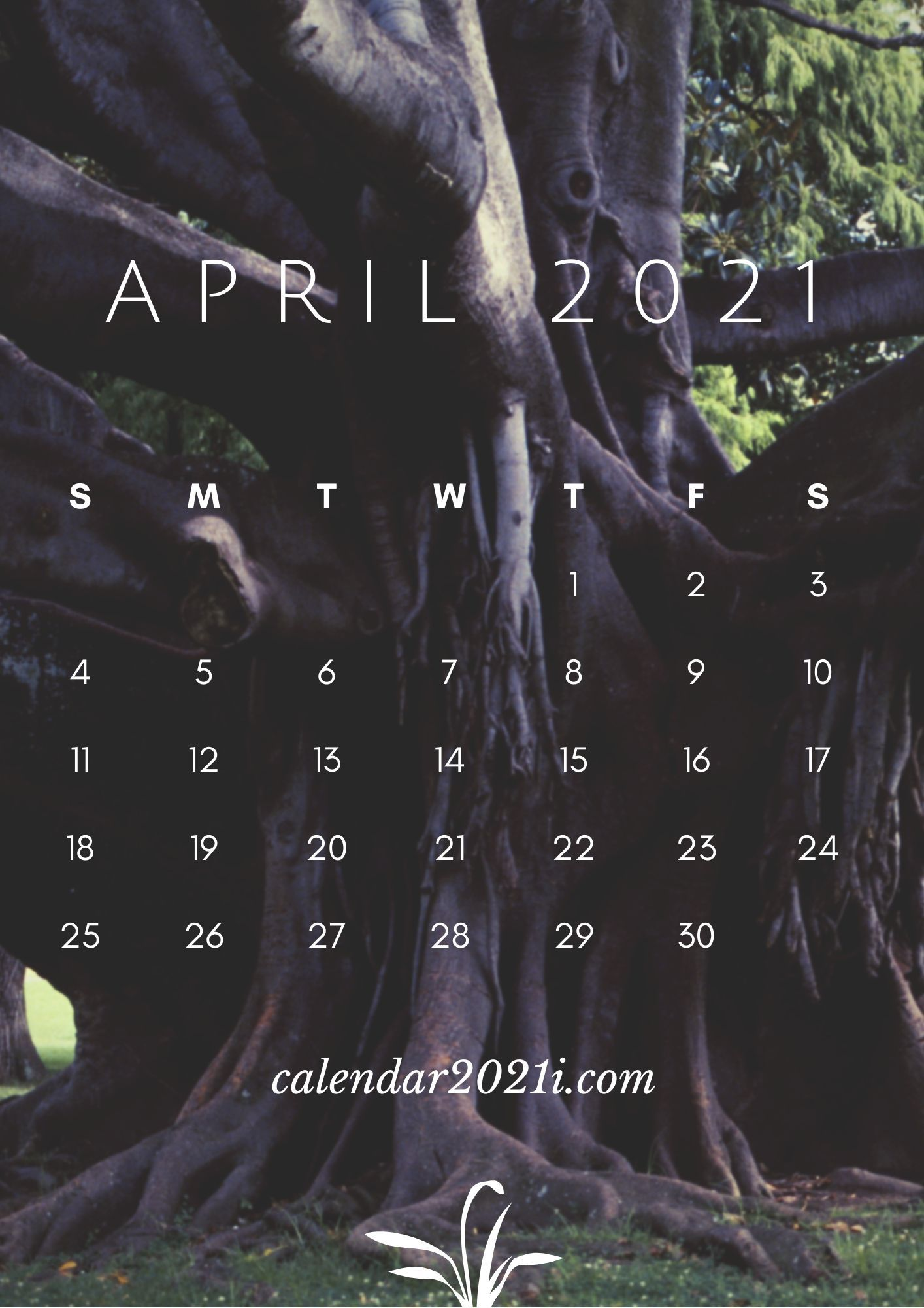 April Calendar 2021 HD Wallpaper for Apple iPhone background 1414x2000