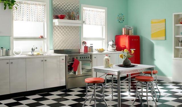 Vintage 1950s Kitchen Design Behr Courtesy 640x377