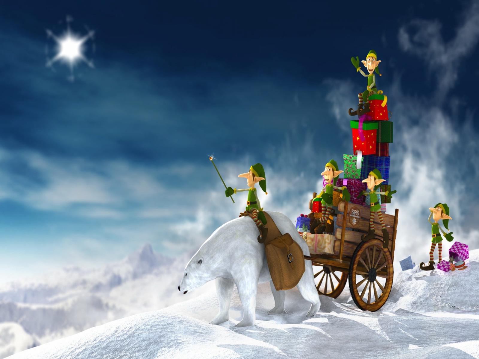 Christmas Snow Desktop Wallpaper 1600x1200