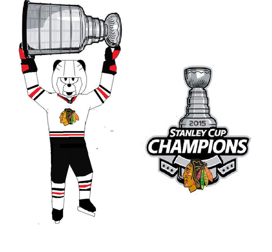 Blackhawks Stanley Cup Panda by hbgoo 930x860