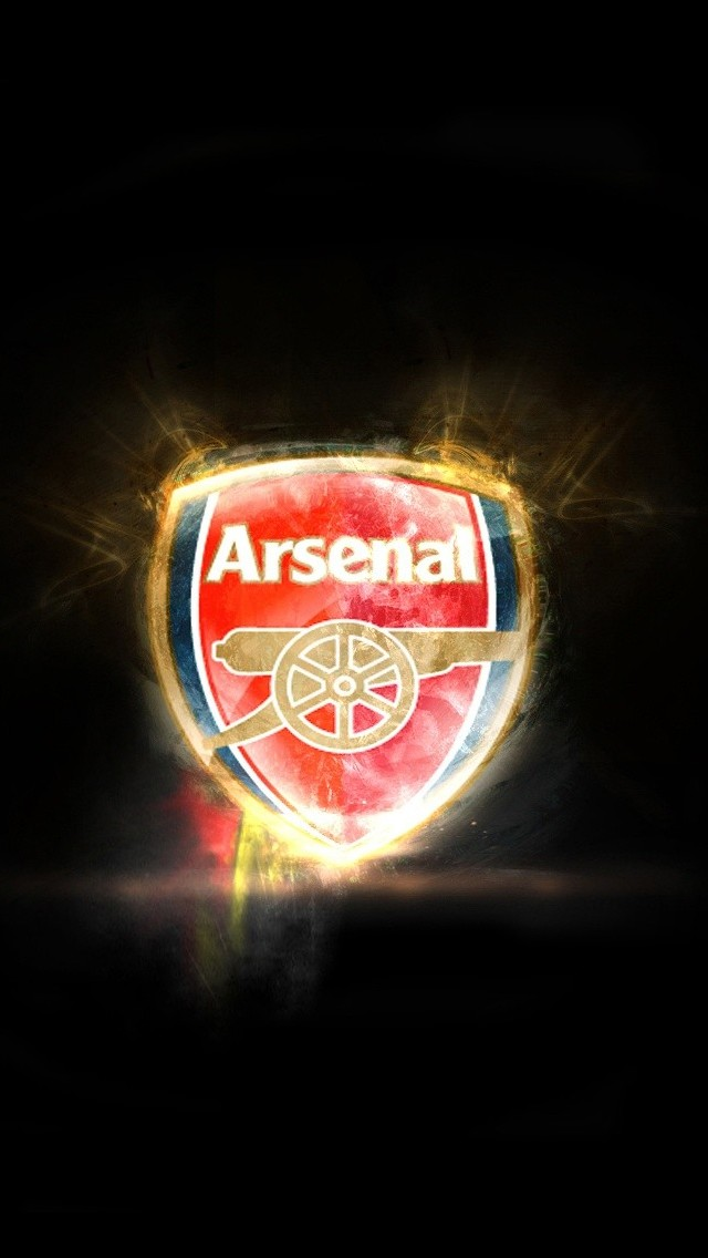 iPhone 5 wallpapers HD   Arsenal team logo Backgrounds 640x1136