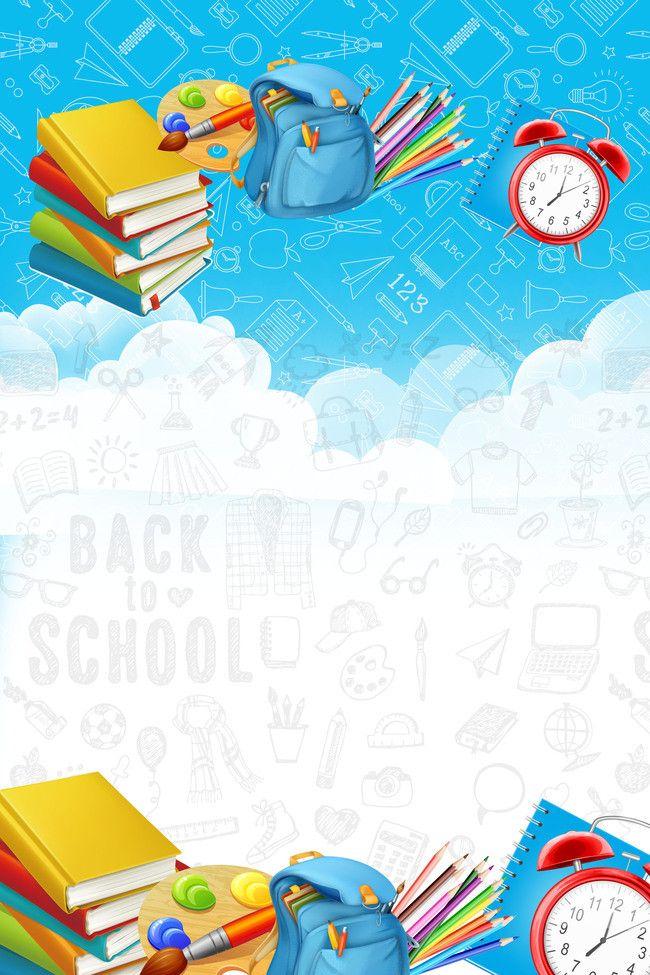School Season Discounts Enjoy Posters Background Material 650x975
