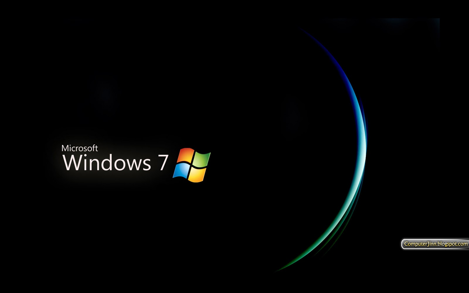 Windows 7 Black and Dark HD Wallpapers Wallpapers pictures images 1600x1000