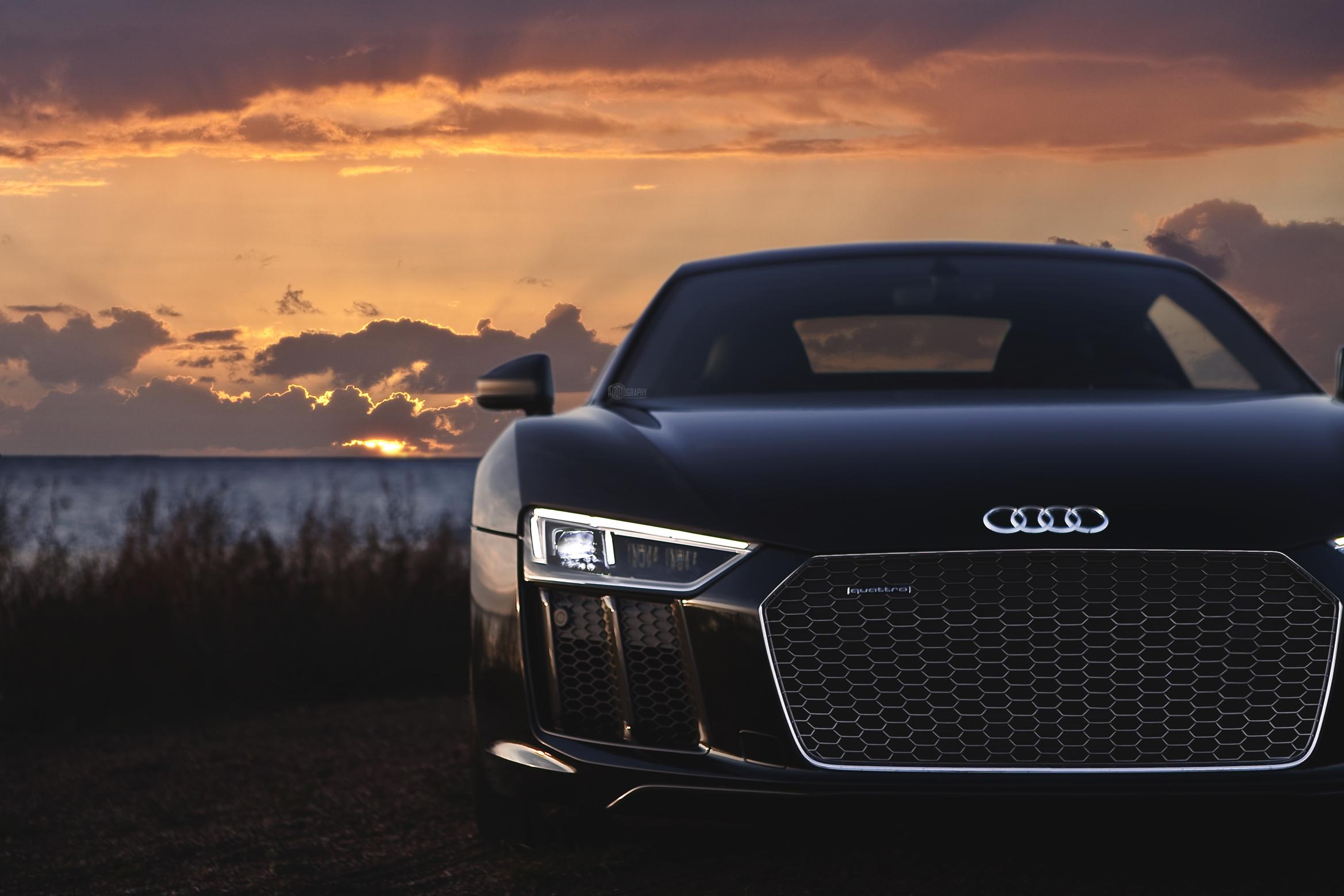 Audi S5 здание освещение  № 2217108 без смс