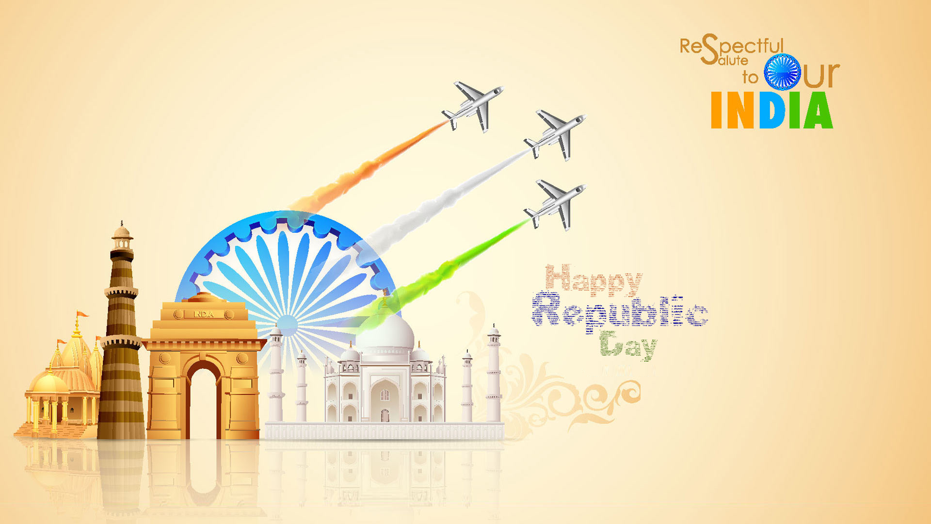 respectful salute to our india happy republic day wallpaper 1920x1080