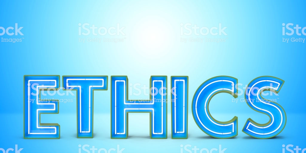 Moral Concept Multi Color Neon Text Over Blue Background Stock 1024x512