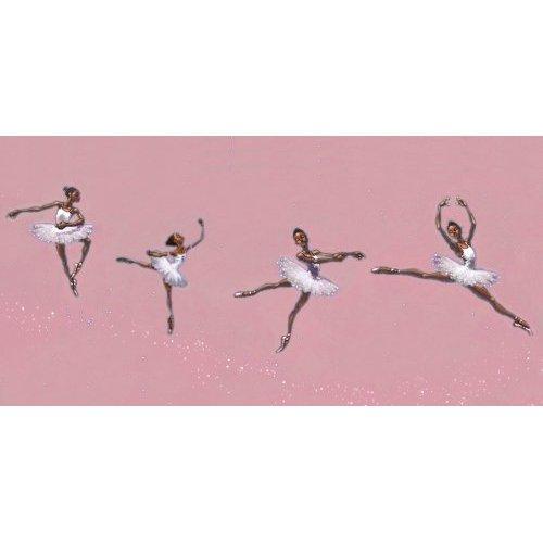 African American Ballerina Wallpaper Border 500x500