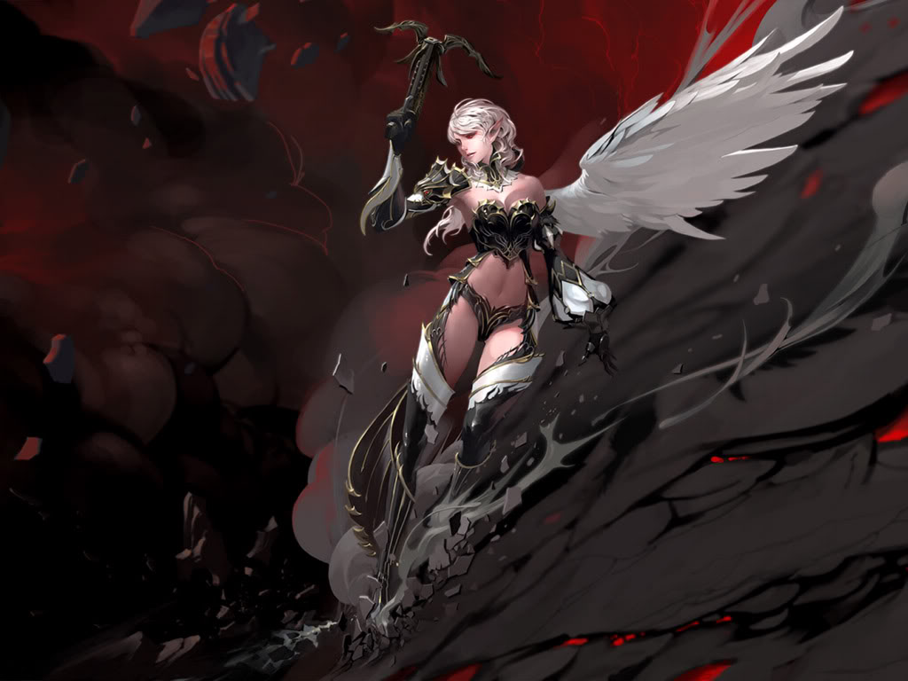 Dark Devil Anime Wallpaper Angels War Www Picturesboss Com