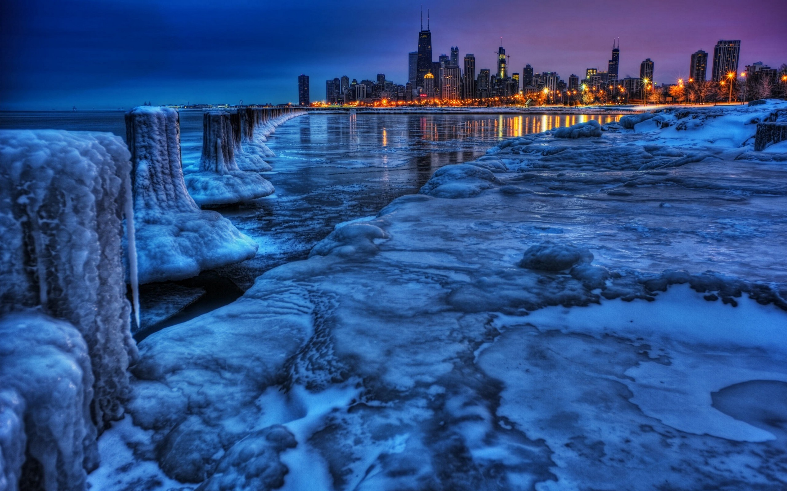 Frozen Chicago Illinois   Wallpaper 36117 2560x1600