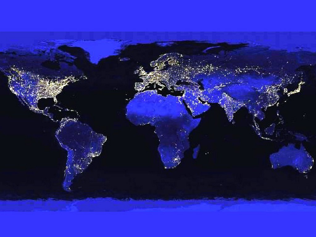 world s map at night Wallpaper g2kyqjpg 1024x768