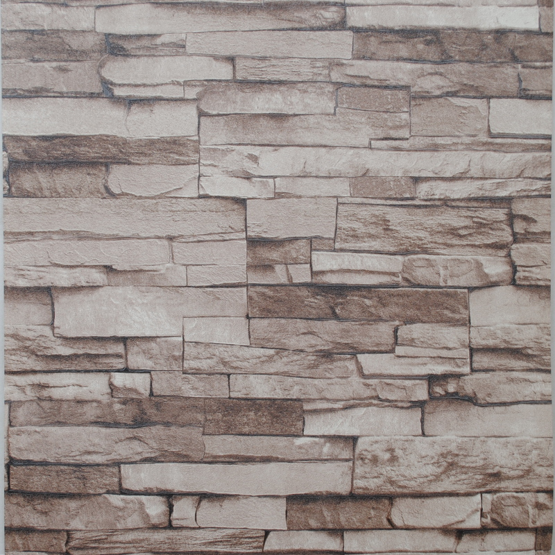 3d Stacked Stone Wallpaper Antique Shabby Chic Modern Brick Wallpaper 800x800
