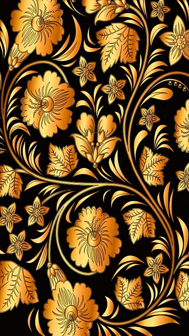 iPhone 5 Wallpapers GLAMOUR SPARKLES OF BLACK GOLD Pinterest 640x1136