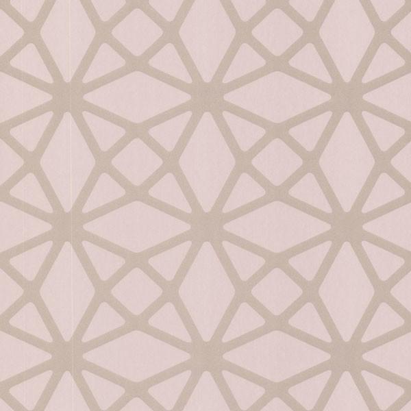 Enterprise Light Pink Lattice Wallpaper Bolt contemporary wallpaper 600x600