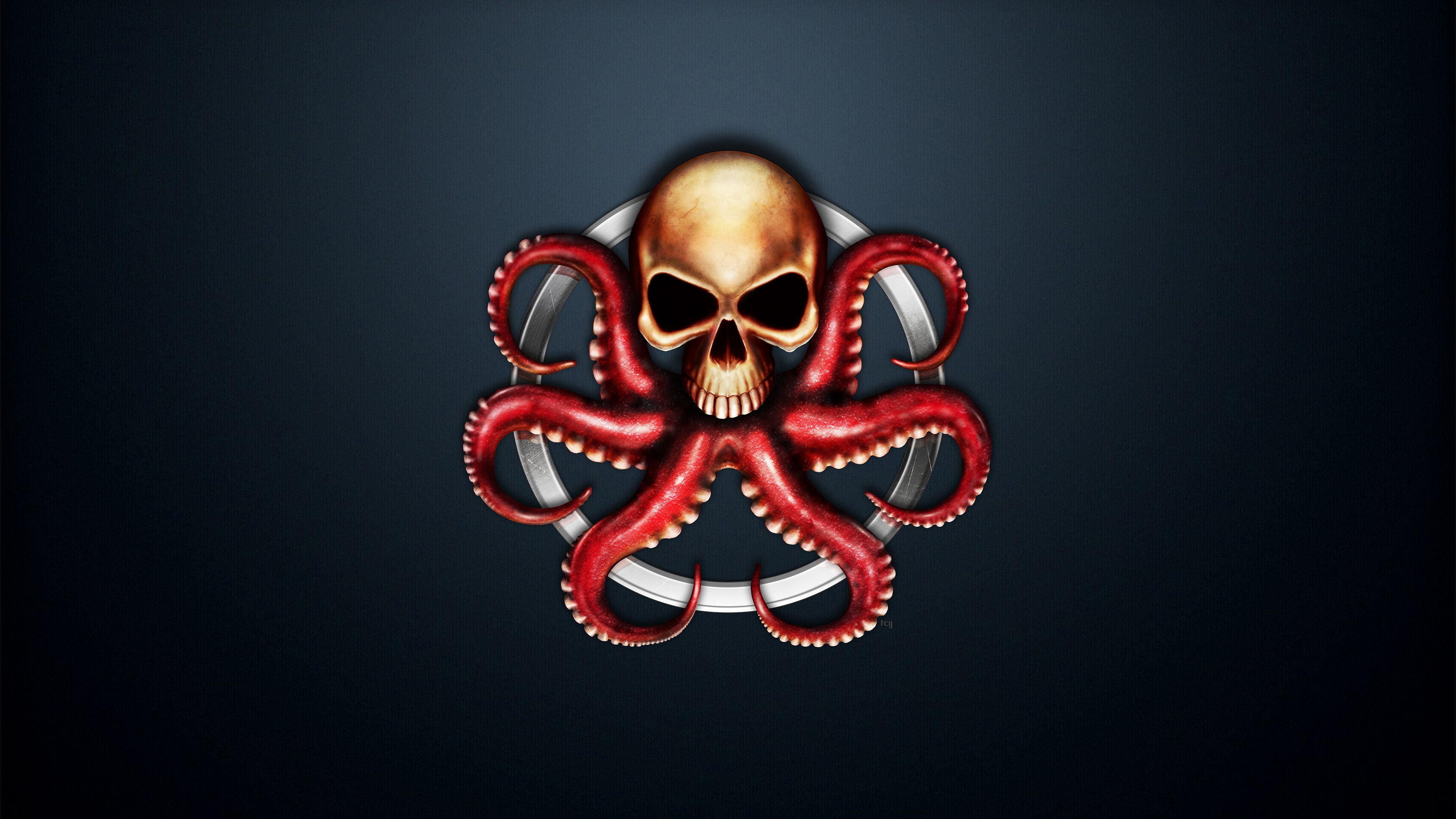 Hydra Logo Wallpaper from Marvel Comics 3840x2160
