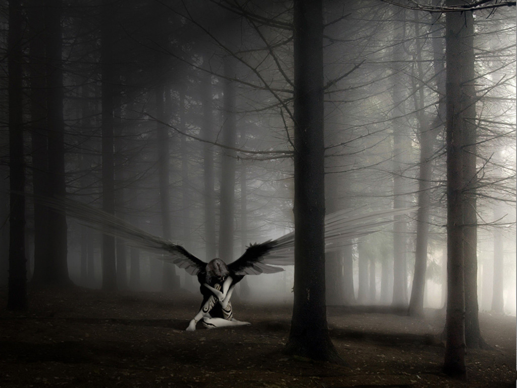 Lonely Angel   Angels Wallpaper 31826332 1024x768