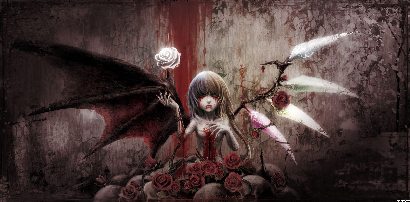 Demon Girl Wallpaper   Ubuntu 1625x800