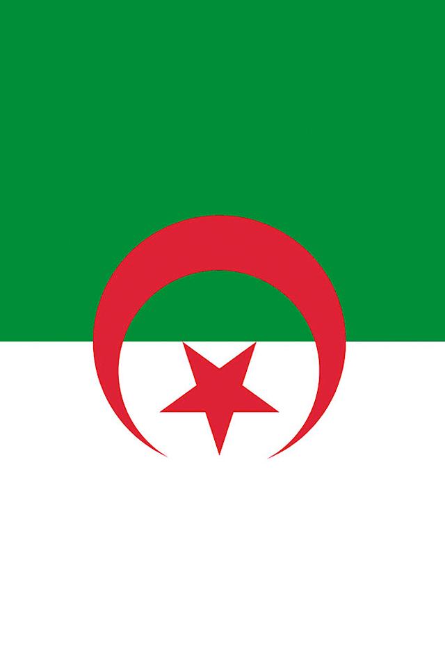 Algeria Flag iPhone Wallpaper HD 640x960