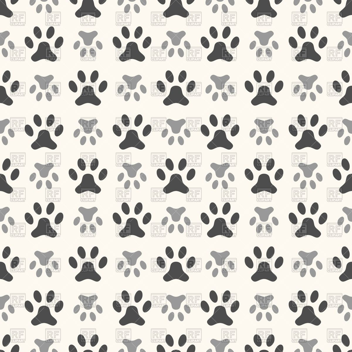 Free Download Dog Paw Print And Bone Background Dog Paw