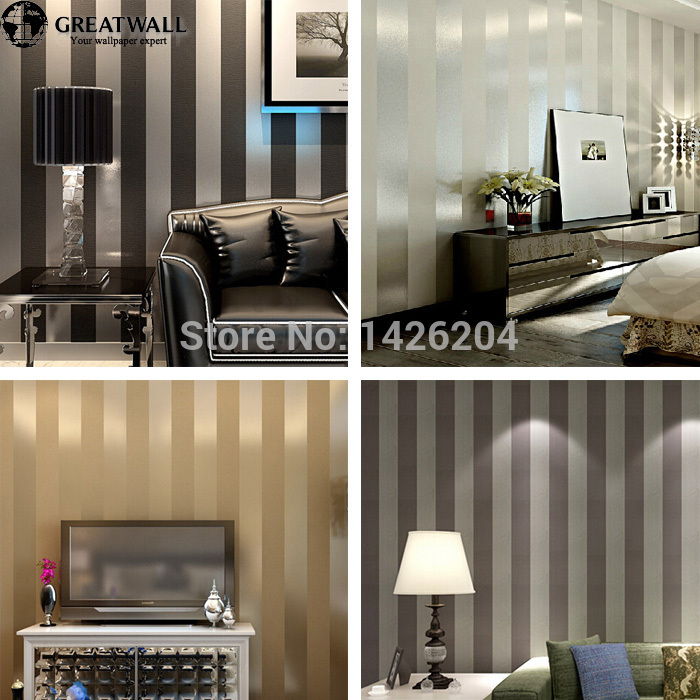wall non woven black white silver gold glitter striped wallpaperwall 700x700