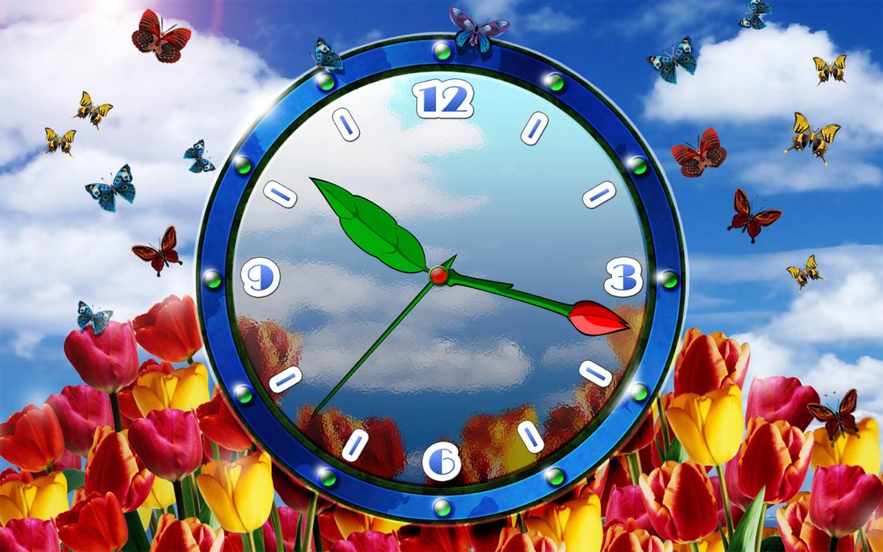 windows 7 desktop analog clock live wallpaper