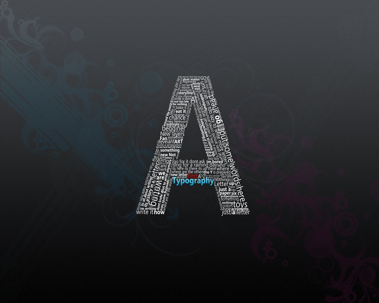 HD Alphabet Wallpaper  PixelsTalkNet