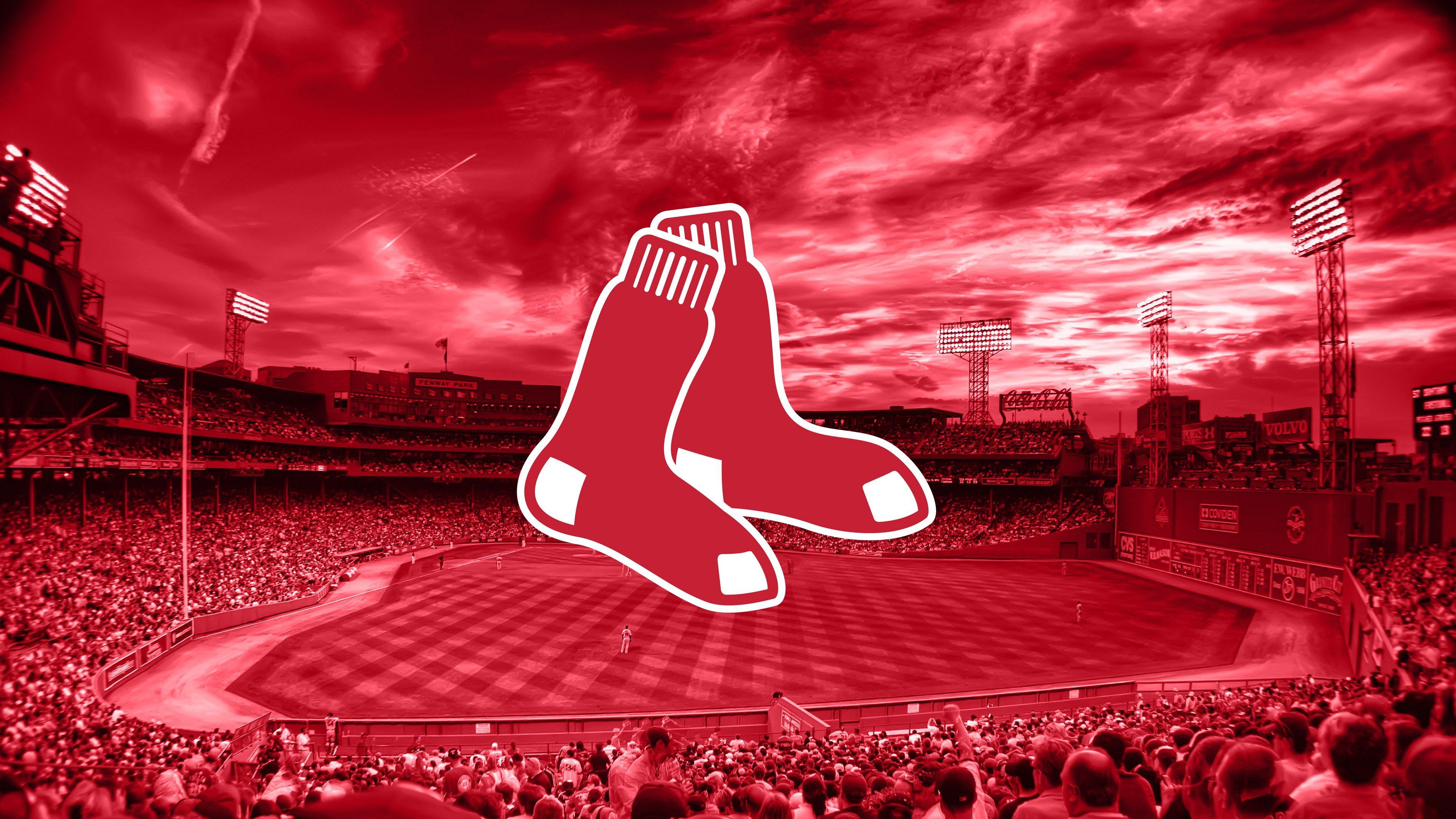 boston red sox logo desktop background ololoshenka Boston red 3840x2160