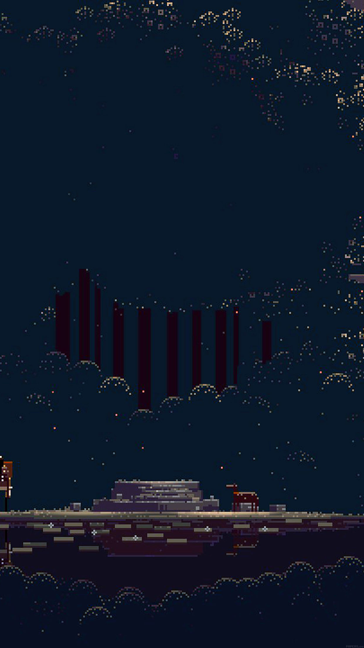 Free Download Wallpaper Pixelated Universe Game 34 Iphone6 Plus