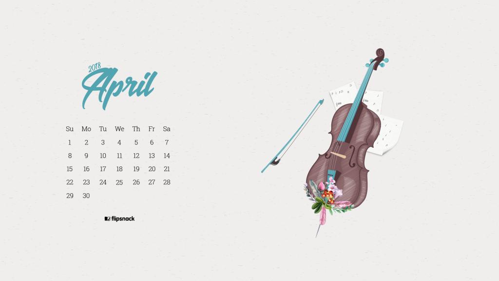April 2018 wallpaper calendar for desktop background   Flipsnack Blog 1024x576