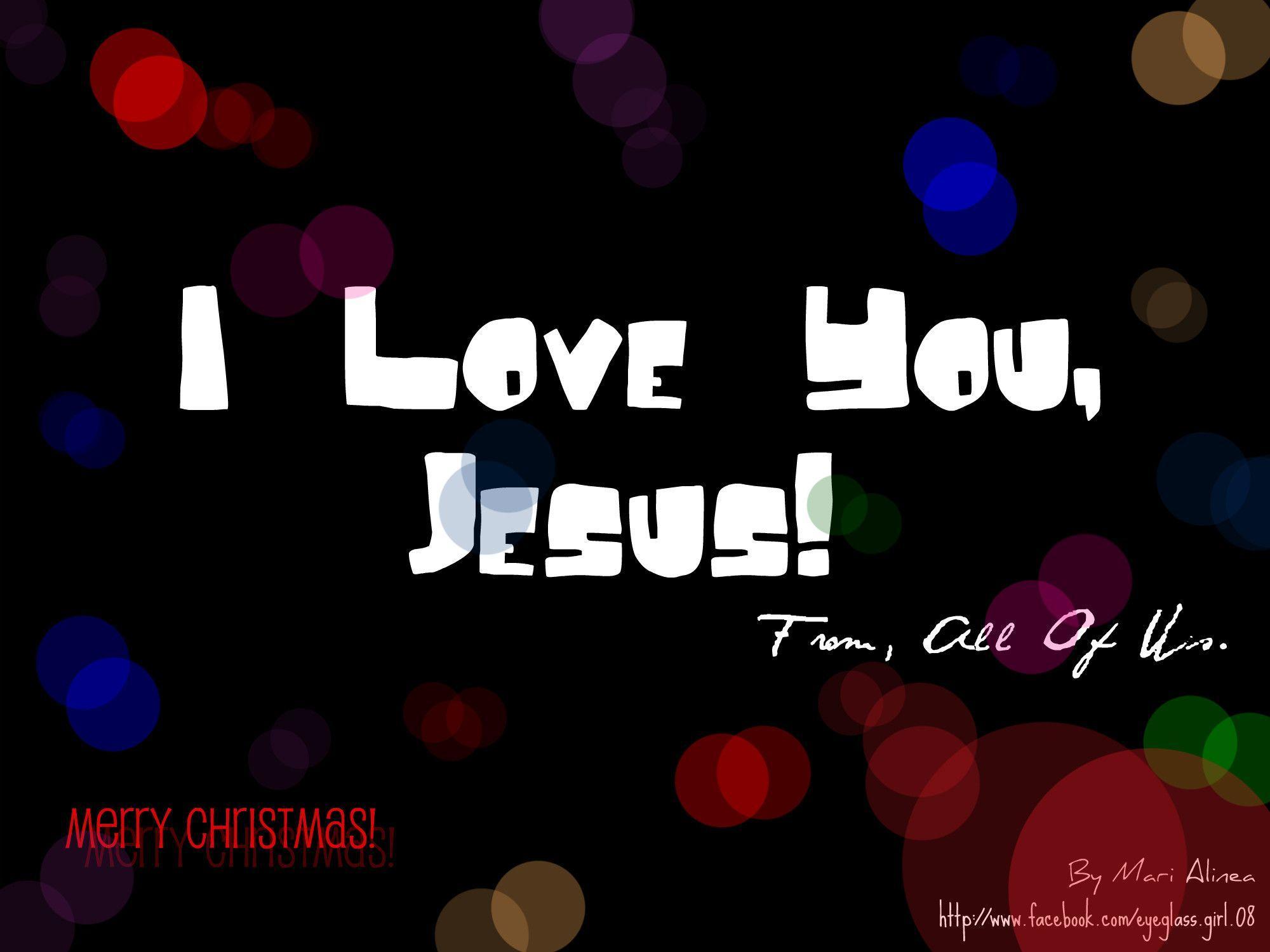 I Love Jesus Wallpapers 2000x1500