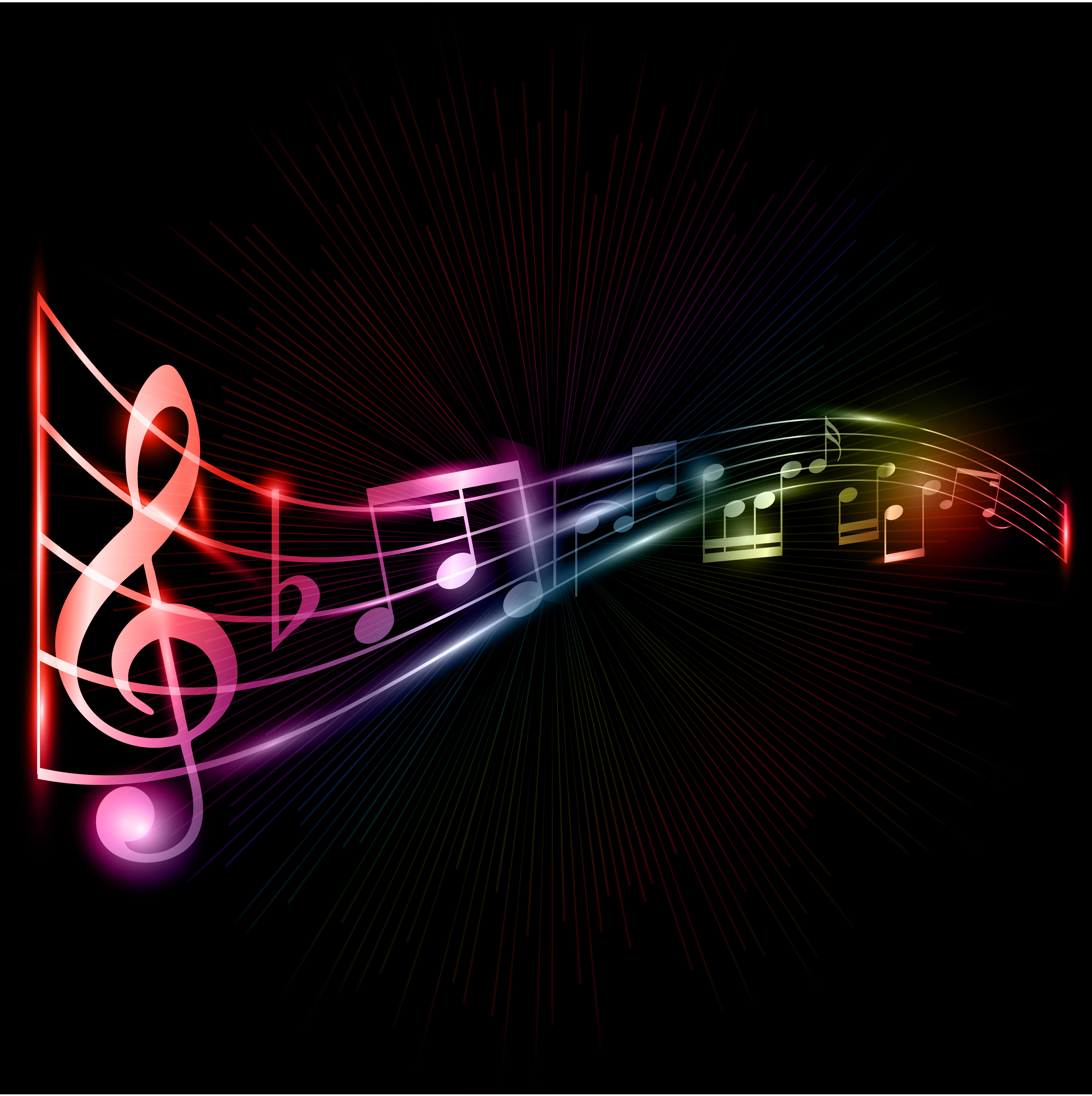 Cool Musical Notes Background Neon music notes background 4724x4742