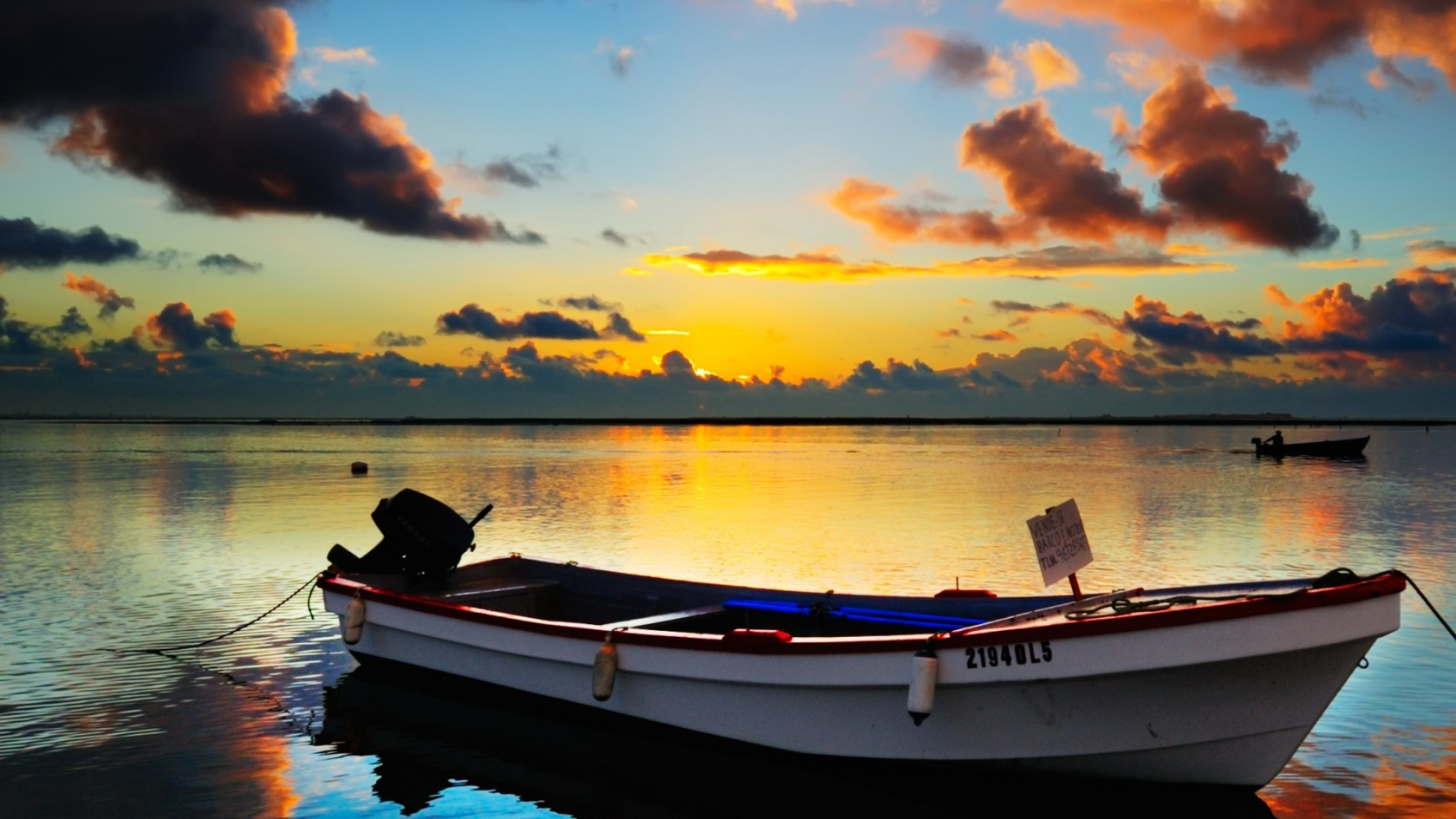 Sunset And Boat Wallpaper Desktop Wallpaper WallpaperLepi 1680x945