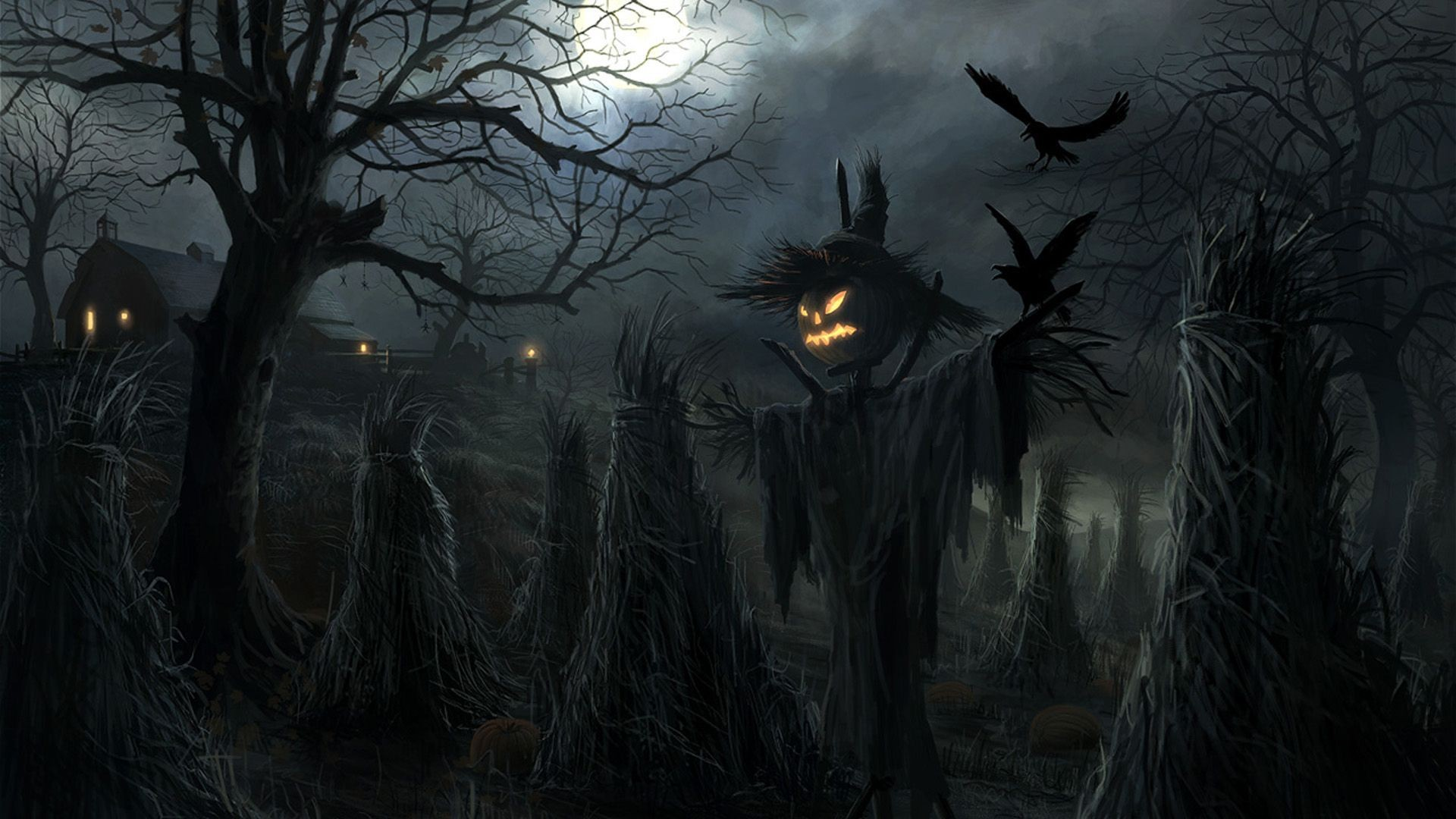 Halloween Scarecrow Holiday HD Wallpapers Cool Images Amazing 1920x1080