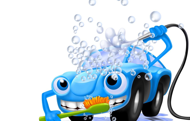 Wallpaper car machine foam water bubbles abstraction art 1332x850