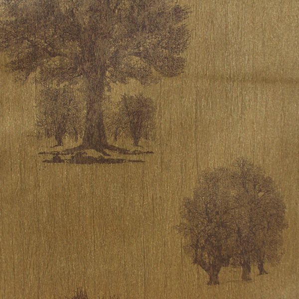 Gold and Brown Arboretum Wallpaper   Wall Sticker Outlet 600x600