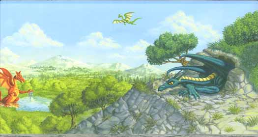Dragon Wallpaper Border   Wallpaper Border Wallpaper inccom 525x279