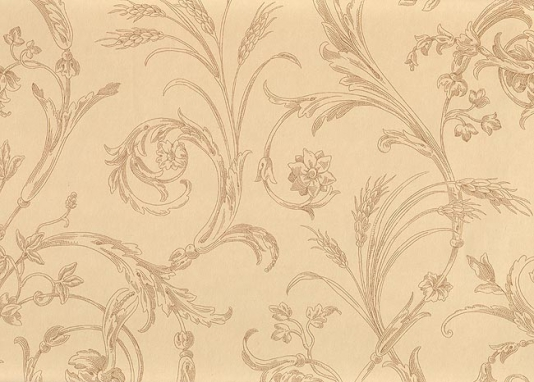 Scroll Wallpaper Beige wallpaper with fine scroll design in light 534x382