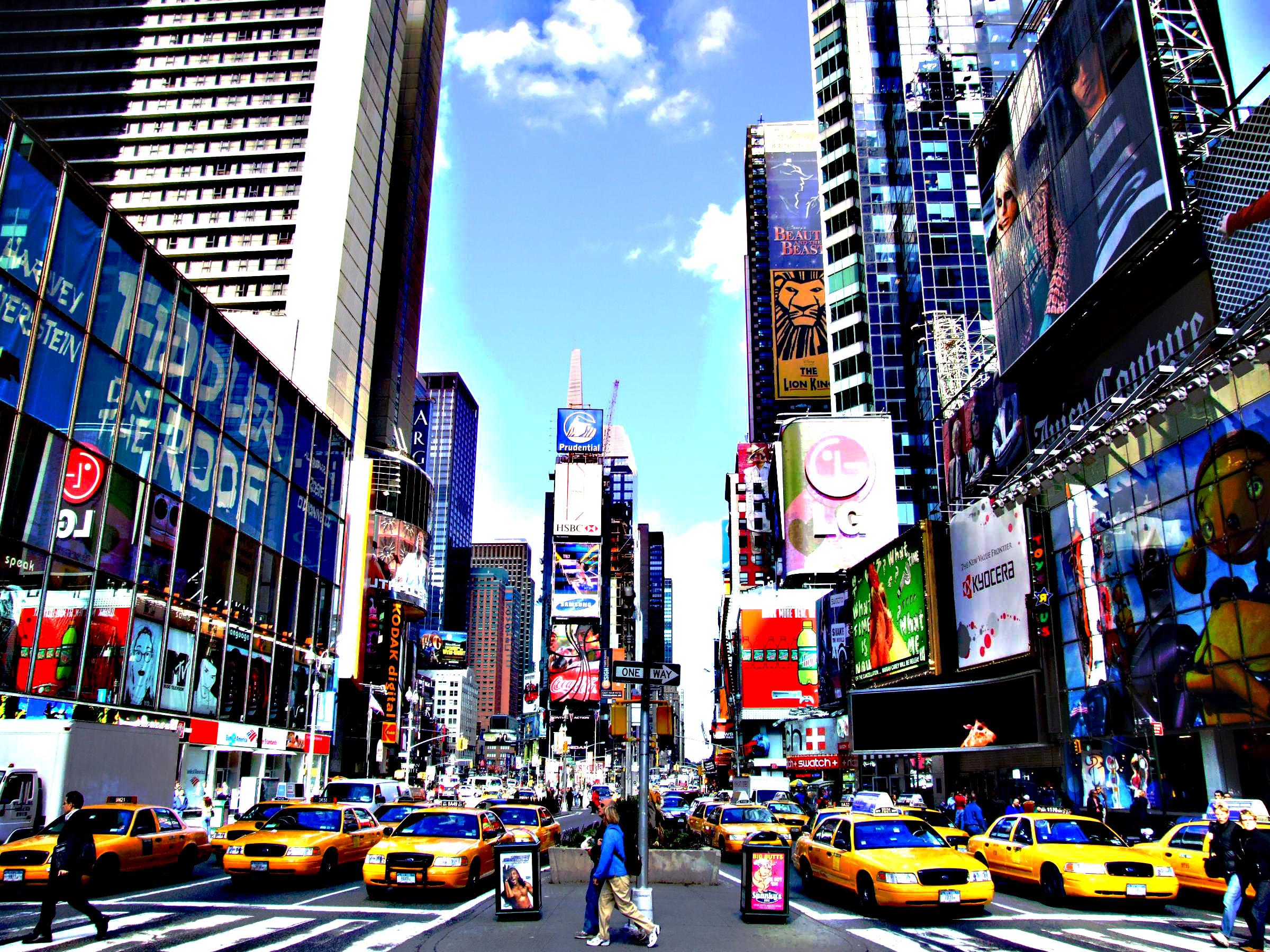 Times Square Wallpaper Wallpapersafari