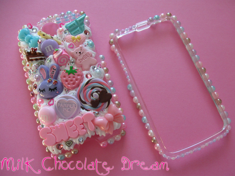 Girly Sweet Pearl Decoden Phone Case by Frainy 900x675