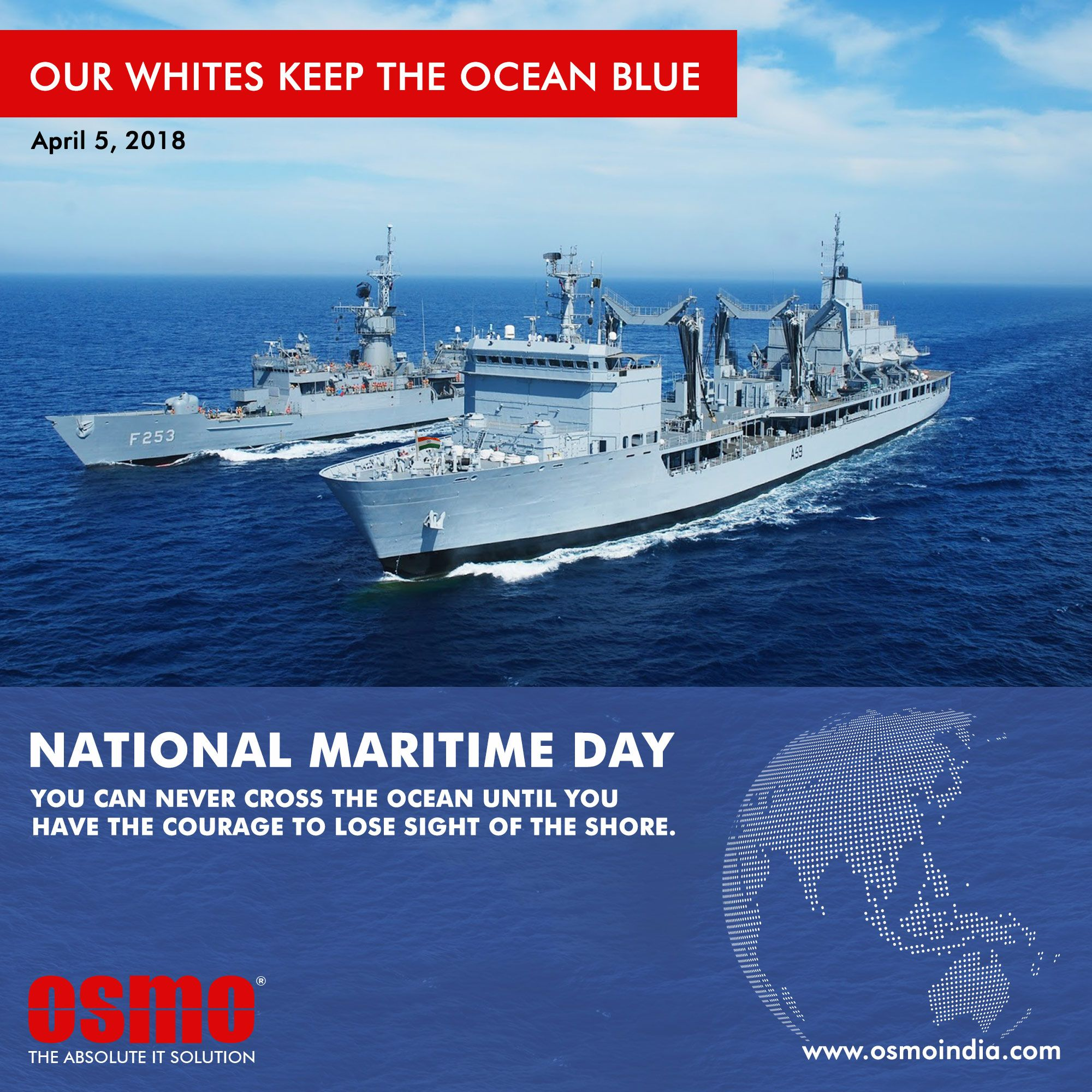 OSMO celebrating the National Maritime Day NMD is observed every 2000x2000