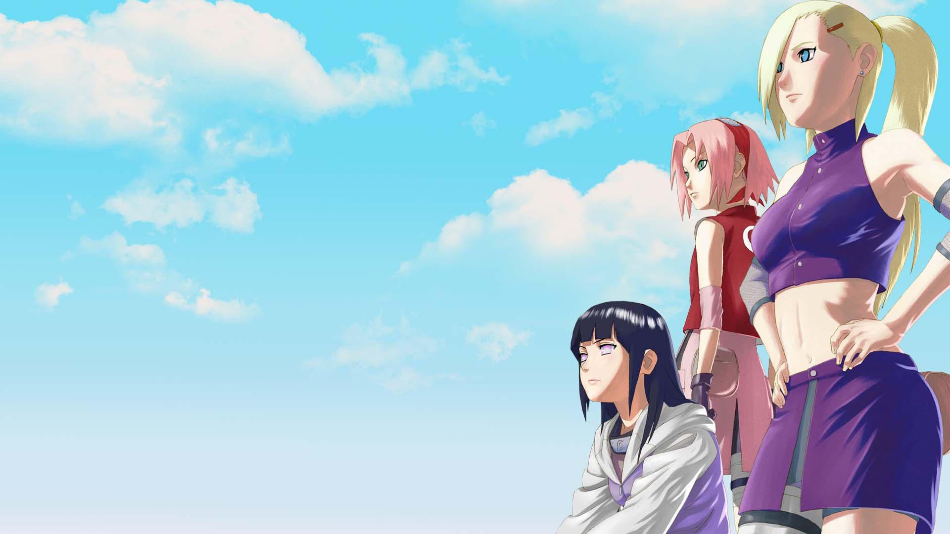 girls from naruto full hd wallpaper Sakura Haruno Hinata Hyuga Ino 1920x1080