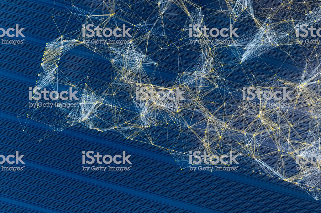 Abstract Lines And Spheres As Organized Background Stock Photo 1024x682