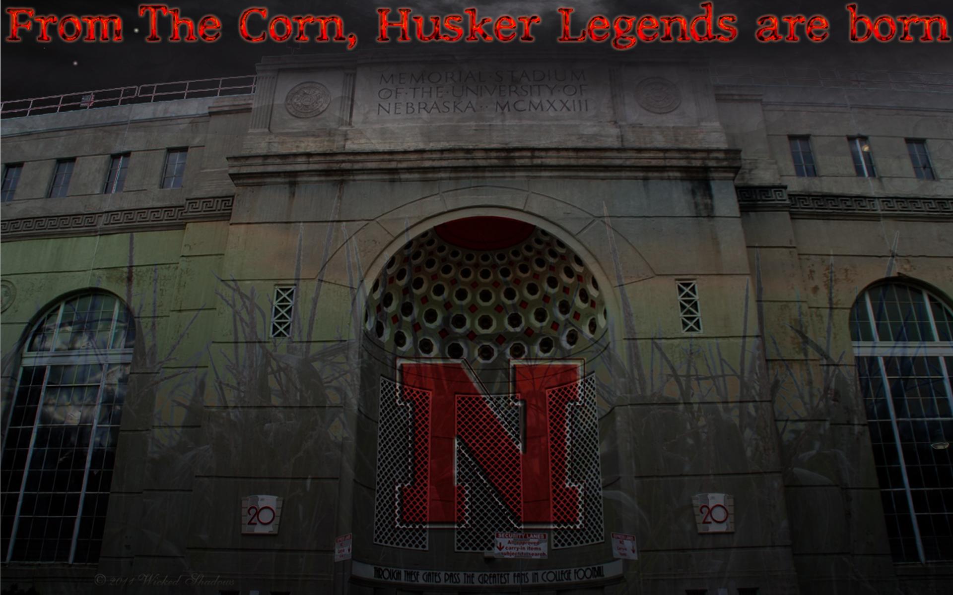 memorial stadium nebraska cornhuskers wallpaper legends 1920x1200