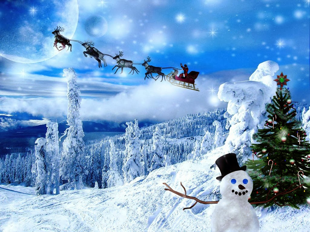 Winter Christmas Background   HD Wallpapers Blog 1024x768